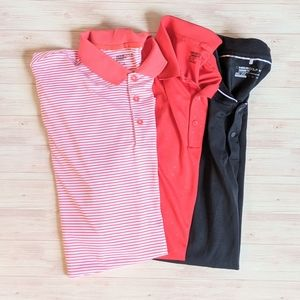 Lot of 3 Nike Men's DRI-FIT Golf Polos